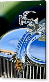 1933 Chrysler Imperial Hood Ornament 3 Acrylic Print by Jill Reger