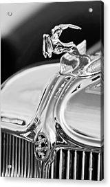 1933 Chrysler Imperial Hood Ornament 4 Acrylic Print by Jill Reger