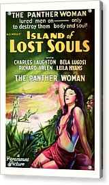 1933 Island Of Lost Souls Vintaage Movie Art Acrylic Print