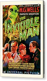 1933 The Invisible Man Vintage Movie Art Acrylic Print