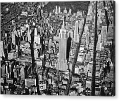 1934 Aerial View Of Manhattan Acrylic Print by Underwood Archives