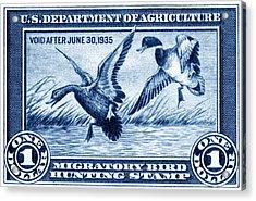 1934 American Bird Hunting Stamp Acrylic Print