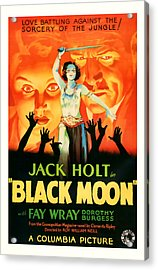 1934 Black Moon Vintage Movie Art Acrylic Print