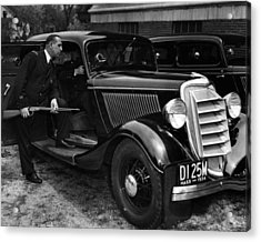 1934 Boston Policeman Ready For Action Acrylic Print by Retro Images Archive