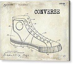 1934 Converse Shoe Patent Drawing Acrylic Print by Jon Neidert