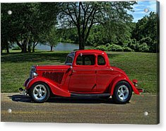 1934 Ford 5 Window Hot Rod Acrylic Print by Tim McCullough