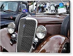 1934 Ford 6 Wheel Equip Front End Acrylic Print by Kaye Menner