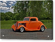 Acrylic Print featuring the photograph 1934 Ford Coupe by Tim McCullough