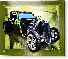 1934 Ford Three Window Coupe Hot Rod Acrylic Print