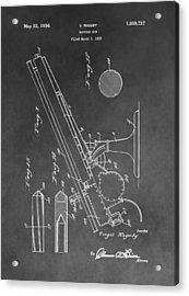 1934 Machine Gun Acrylic Print
