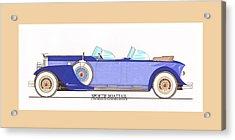 1934 Packard Sportif Boattail Concept By Dietrich Acrylic Print by Jack Pumphrey