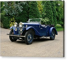 1934 Talbot 105 Vanden Plas Tourer, 3.0 Acrylic Print by Panoramic Images