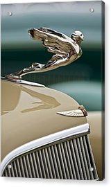 1935 Cadillac Convertible Hood Ornament Acrylic Print by Jill Reger