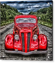 1935 Ford Window Coupe Acrylic Print by Richard Farrington