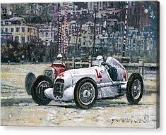 1935 Monaco Gp Mercedes-benz W25 #4 L. Fagioli Winner  Acrylic Print