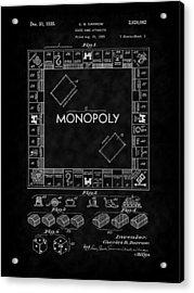 1935 Monopoly Board Game Patent-bk Acrylic Print
