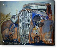 1935 Plymouth Coupe Acrylic Print by DJ Laughlin