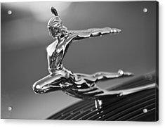 1935 Pontiac Sedan Hood Ornament 4 Acrylic Print by Jill Reger