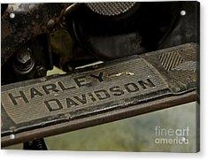 1936 El Knucklehead Harley Davidson Vintage Parts  Acrylic Print by Wilma  Birdwell