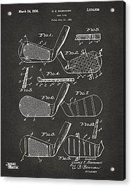 1936 Golf Club Patent Artwork - Gray Acrylic Print