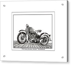 1936 Harley Knucklehead Acrylic Print