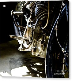 1936 Indian Tracker Racer Acrylic Print by Wilma  Birdwell