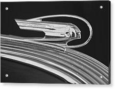 1936 Pontiac Hood Ornament 5 Acrylic Print by Jill Reger