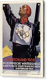 1936 Winter Olympics Acrylic Print by Unknown