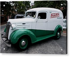 1937 Chevy Delivery Van Acrylic Print by James C Thomas