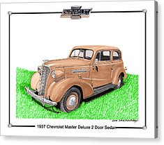1937 Chevy Master Deluxe 2 Dr Sedan Acrylic Print by Jack Pumphrey