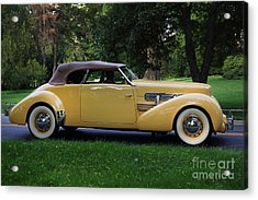 1937 Cord Convertible Acrylic Print by Dennis Hedberg