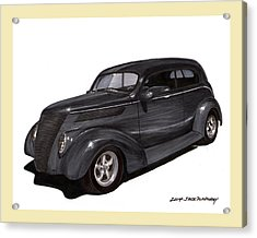 1937 Ford 2 Door Street Rod Acrylic Print