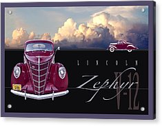 Acrylic Print featuring the photograph 1937 Lincoln Zephyr by Ed Dooley