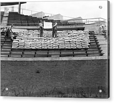 1937 Load Test At Wrigley Field Bleachers Acrylic Print by Retro Images Archive