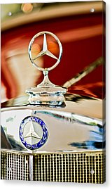 1937 Mercedes-benz Cabriolet Hood Ornament Acrylic Print