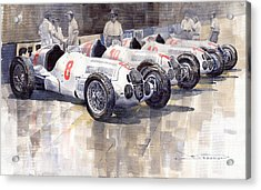 1937 Monaco Gp Team Mercedes Benz W125 Acrylic Print