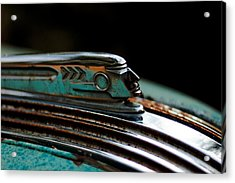 Acrylic Print featuring the photograph 1937 Pontiac 224 Hood Ornament by Trever Miller