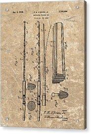 1938 Laminated Fishing Rod Patent Acrylic Print