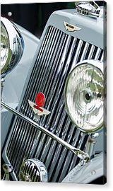 1939 Aston Martin 15-98 Abbey Coachworks Swb Sports Grille Emblems Acrylic Print by Jill Reger