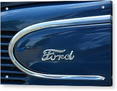 1939 Ford Emblem Acrylic Print by Mike Martin