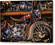 1939 Indian Chief Acrylic Print by Steve Benefiel