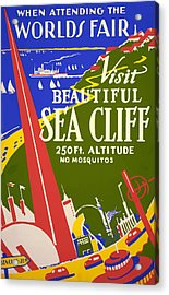 Acrylic Print featuring the painting 1939 Sea Cliff - Worlds Fair Celebration by American Classic Art