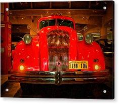 1939 World's Fair Fire Engine Acrylic Print by MJ Olsen