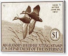1940 American Bird Hunting Stamp Acrylic Print