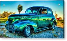 1940 Chevy Sedan Acrylic Print by Brian Wright