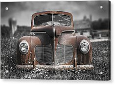 1940 Desoto Deluxe With Spot Color Acrylic Print by Scott Norris