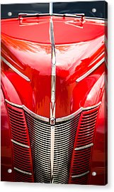 1940 Ford Deluxe Coupe Grille Acrylic Print by Jill Reger