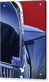 1940 Ford Hood Ornament 2 Acrylic Print by Jill Reger
