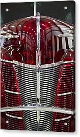 1940 Ford V8 Grill  Acrylic Print by Eti Reid