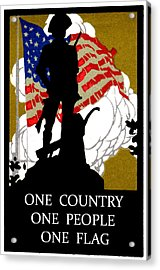 1940 One Country Acrylic Print